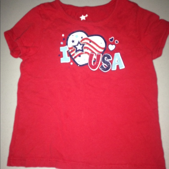 New Gymboree Boys July 4th Red USA Patriotic Tee Shirt Top 4T 5T American